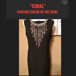 Jewelry - Necklace:🔥was $39 Coral Howlite Beads Fringe